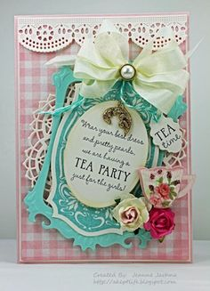 Tea party invites.