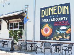 Dunedin, Florida art - digital art download - Dunedin sign 8x10 - quaint coastal town - photography art print