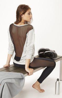 mesh sweater by BLUE LIFE FIT #planetblue @ http://www.FitnessApparelExpress.com