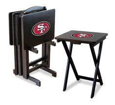 San Francisco 49ers Team Logo TV Trays/Tailgate Tables