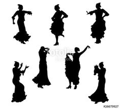"Download the royalty-free vector ""Flamenco - vector silhouettes"" designed by Lumarmar at the lowest price on Fotolia.com. Browse our cheap image bank online to find the perfect stock vector for your marketing projects!"