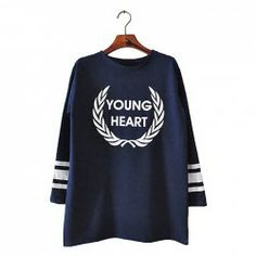 $7.86 Letters And Olive Leaves Print Loose-Fitting Cotton Color Matching Sweatershirt For Women