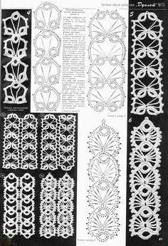 Crochet Patterns Headband crochet chart – would be cute as crocheted headbands, too.Crochet card – would also be cute as crocheted headbands. Crochet Edging Patterns, Crochet Lace Edging, Crochet Diagram, Filet Crochet, Crochet Edgings, Crochet Flowers, Crochet Cord, Crochet Bracelet, Thread Crochet