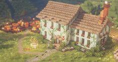 Minecraft Farm, Minecraft Cottage, Minecraft Medieval, Cute Minecraft Houses, Minecraft House Designs, Minecraft Videos, Minecraft Bedroom, Minecraft Blueprints, Minecraft Creations
