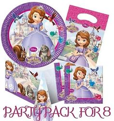 Sofia THE First Party Pack FOR 8 Birthday Party Supplies | eBay