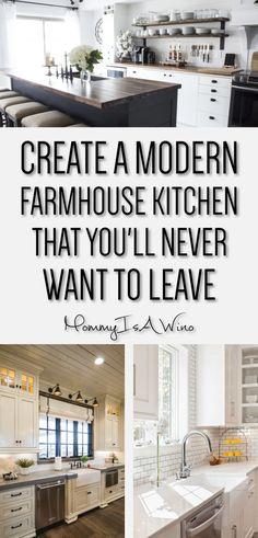 10 Beautiful Modern Farmhouse Kitchens