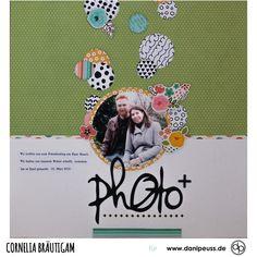 Scrapbooking Layout mit dem Februarkit | von Cornelia Bräutigam für www.danipeuss.de #danipeuss #scrapbooking #memorykeeping #papercrafting #basteln Project Life, Layout, Scrapbook, Inspiration, Paper, February, Card Crafts, Photo Shoot, Projects