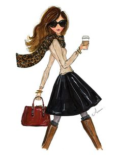 Fashion+Illustration+Print+The+Fall+Girl+by+anumt+on+Etsy,+$25.00