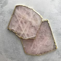 Handcrafted in India, these unique gemstone coasters feature a gold rimmed edge. Sold as a set of 2 pieces. MATERIALRose Quartz diameter DELIVERYPlease note that this product will be delivered to you in working days. South African Shop, Rose Quartz, Coasters, Im Not Perfect, Gemstones, Unique, Handmade, Google, Shops