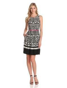 Eliza J Women's Sleeveless Fit And Flare Dress, Black/White, 6 Eliza J,http://www.amazon.com/dp/B00AVVBFSO/ref=cm_sw_r_pi_dp_.n7Irb5282FD45A8