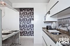 Idéia de cozinha integrada com a sala