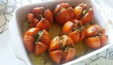 Zalig.....gegrilde tomaten met lekkere kruiden en knoflook