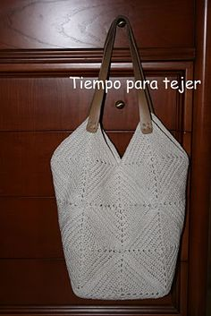 Tiempo para tejer: Bolso Crochet Crochet Beach Bags, Crochet Market Bag, Crochet Tote, Crochet Handbags, Crochet Purses, Knit Or Crochet, Crochet Shoulder Bags, Clutch, Cotton Bag