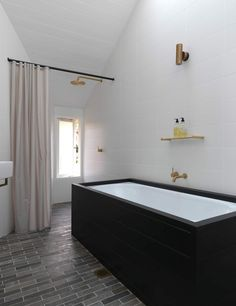Interiors | alwill  #bathroom #wooden #bathtub #white
