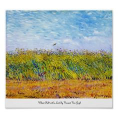 Wheat Field with a Lark by Vincent Van Gogh poster print #art