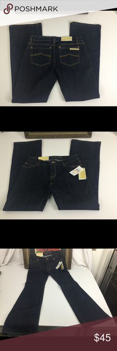 """NWT Michael Kors Jeans Sz 2P. NWT awesome Michael Kors jeans.  Sz 2P. Waist  14"""". Inseam 28"""". Rise 7"""" Michael Kors Jeans Boot Cut"""