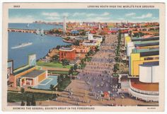 1933 Chicago World's Fair Exhibit Grounds Post Card from a lot of 3 for $20