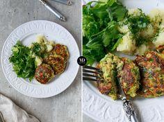 Burgery z cukinii i mozzarelli z marchewką i ziołami //  Zucchini Cakes with Mozzarella and herbs Recipe by #mojadelicja  #healthyfood #fit #diet #healthyeating #food #foodporn #wege #kotlety #burgery #obiad #superfood