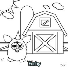 furby coloring pages | Furby