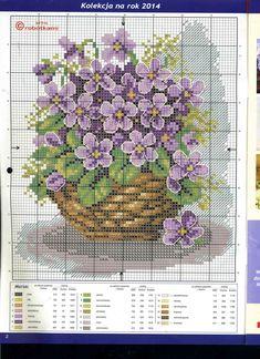 patrones de flores en punto cruz