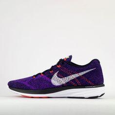 Nike Flyknit Lunar 3 Mens Running Trainers Shoes Black/Purple #Nike #LightweightTrainers
