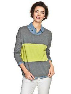 Colorblock stripe sweater   Gap