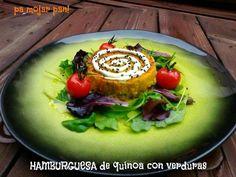 Hamburguesas de quinoa y verduritas con mayonesa de aguacate
