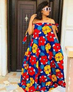 African print dress off shoulder maxi dress/Ankara/African Clothing/African Fashion/Ankara Clothing/ African Fashion Ankara, Latest African Fashion Dresses, African Dresses For Women, African Print Dresses, African Print Fashion, African Attire, African Women, Africa Fashion, Tribal Fashion