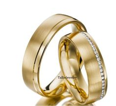 18K Yellow Gold His & Hers Mens Womens Matching by TallieJewelry, $1950.00