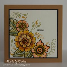 Corine's Art Gallery Altenew Cards, Stampin Up Cards, Paisley Doodle, Hand Drawn Cards, Homemade Greeting Cards, Diy Cards, Handmade Cards, Fall Cards, Pretty Cards