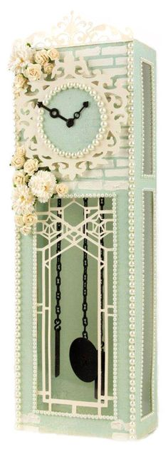 Shabby Chic Grandfather Clock by Pazzles DT Member Tara Brown