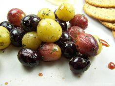 Olla-Podrida: Herb Roasted Balsamic Grapes