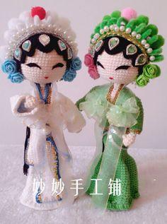 Miu Miu магазин кукла ручной работы вязание шерсть графический учебник китайская электронная трио Белой Змеи - глобальной станции Taobao