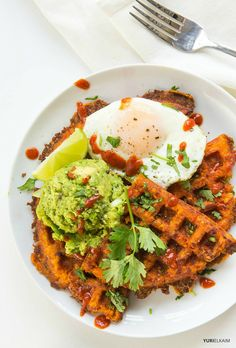 When you start to focus on gluten-free eating, it\\\'s easy to feel like you\\\'re leaving behind a lot of breakfast favorites. That\\\'s why I\\\'m so grateful for these indulgent sweet potato waffles.Pancakes, french toast and waffles, though delicious, are generally void of nutrients, high in sugar and made with refined ...