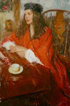 Kai Fine Art is an art website, shows painting and illustration works all over the world. Painting Process, Painting & Drawing, L'art Du Portrait, Art Station, Red Art, Coffee Art, Figurative Art, Traditional Art, Impressionist