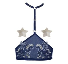 Nearer the Moon Celestial Pegasi Harness and Steller Pasties Blue Lingerie, Lingerie Set, Cotton Nighties, Festival Gear, Lingerie Accessories, Soft Cup Bra, Astrology Signs, Stargazing, Constellations
