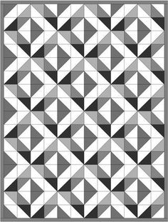 Various (HST) Half square triangle layouts Half Square Triangle Quilts Pattern, Half Square Triangles, Square Quilt, Colchas Quilt, Scrappy Quilts, Quilt Blocks, Quilting Tutorials, Quilting Projects, Quilting Designs