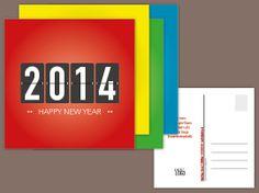 Neujahrskarte «Faltblattanzeige»