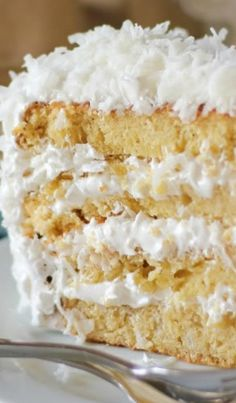 Fluffy Moist Coconut Cake Recipe