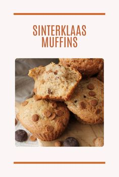 Sinterklaas Muffins - deliciously fluffy, spiced with cinnamon and ginger, these muffins are so good, they'll be gone before you know it.