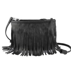 Black purse with tassels Black faux leather shoulder bag with tassels Bags Mini Bags