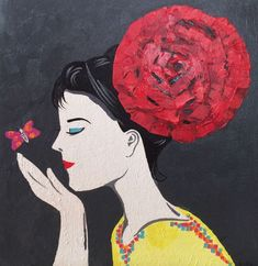 Buy Red Rose Girl, Acrylic painting by Amita Dand on Artfinder. Discover thousands of other original paintings, prints, sculptures and photography from independent artists.