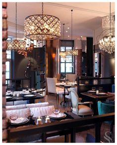 Portfolio: Extravagant Restaurant in Yaroslavl Modern Restaurant, Restaurant Branding, Restaurant Design, Luxury Furniture, Furniture Design, Restaurant Furniture, Luxury Interior Design, Cool Lighting, Modern Design