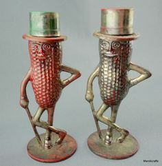 Mr Peanut Salt & Pepper Shaker Set Planters Advertising Mascot Silver Plastic Promo Canada