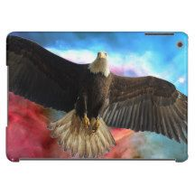 Bald Eagle & Outer Space Case For iPad Air