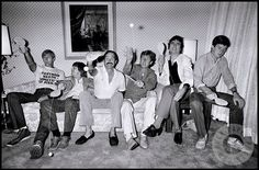 Graham Chapman Terry Gilliam John Cleese Eric Idle Terry Jones and Michael Palin of Monty Python backstage at the Hollywood Bowl British Humor, British Comedy, Monty Python, Image Tumblr, Eric Idle, Terry Jones, Michael Palin, Terry Gilliam, The Hollywood Bowl