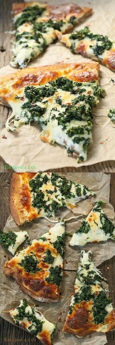 Feta Spinach Pizza