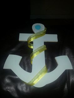 my gray anchor for the teal, gray, and yellow nautical themed baby shower for my sister and sister in-law.