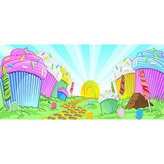 Decorate your event with this Sweet Cupcake Background Illustration.  Choose from a variety of sizes and materials.