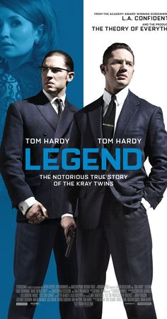 #towatch Directed by Brian Helgeland.  With Tom Hardy, Emily Browning, Taron Egerton, Paul Anderson. The film tells the story of the identical twin gangsters Reggie and Ronnie Kray, two of the most notorious criminals in British history, and their organised crime empire in the East End of London during the 1960s.